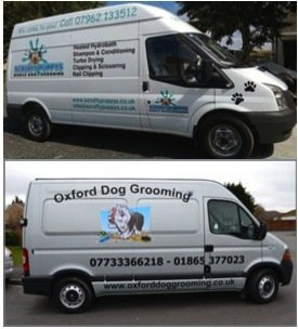 Branded Dog Grooming Vans